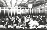 Assemblea dei deputati iscritti al PR a Sofia. Visione d'insieme della sala coi deputati dei vari paesi iscritti al PR (BN)