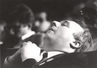 ritratto di Renè Andreani mentre dorme (BN)