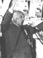 Comizio al Pantheon contro il golpe in URSS. Pannella mentre parla (BN) ottima 1871bis