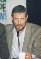 ritratto di Lazar Stojanovic (regista cinematografico, Belgrado) alla Conferenza PR - Radio B 92 (Belgrado) per l'ingresso della Jugoslavia nella CEE