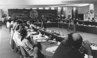 CF consiglio federale. Vista larga della sala. (BN) buona