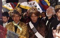 delegazione della Mongolia Interna alla 1° manifestazione europea per la libertà del Tibet.