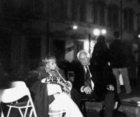 Pannella e Bonino nella notte tra il 15 e il 16 durante la dimostrazione davanti a Palazzo Chigi dalle ore 17.00 del 15.2.98 alle ore 4.00 del 17.2.98