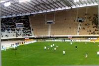 partita di calcio: Jugoslavia-Italia. Militanti radicali espongono all'interno dello stadio due  striscioni che vuole l'ingresso della Jugoslavia nell