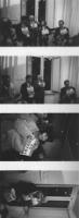Renato Zero, Martelli, Pannella, Vigevano, Bonino, tutti con al collo il numero di telefono per le iscrizioni al PR, alla sede di Torre Argentina in u