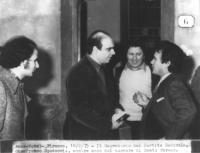 Il segretario del PR Gianfranco Spadaccia mentre esce dal carcere di Santa Teresa dove si trovava recluso per procurato aborto volontario  (BN) import
