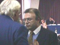 """Francesco Storace (AN, presidente commissione vigilanza RAI) parla con Pannella. Convegno conclusivo: """"Internet, televisione digitale e altro. Quali l"""