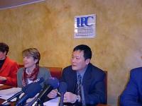 Conferenza stampa di Wei Jingsheng all' International Press Service.