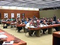 Sede onu. Conferenza di Nessuno Tocchi Caino in vista della votazione della risoluzione di moratoria della pena di Morte. Pubblico che ascolta