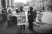 PROVINI. Piazza del Quirinale. Manifestazione affinchè il presidente della Repubblica non firmi la legge sul finanziamento pubblico ai partiti. Manife