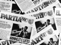 """""""riproduzione della pagina del giornale """"""""il partito nuovo"""""""" pubblicato da PR in 21 lingue. Testata, logo PR, Foto di prigioniero mussulmano nei campi"""