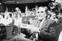 Serata d'Onore. Vittorio Gassman al Teatro Parioli per i 30.000 iscritti al PR. (BN)