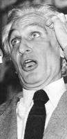 primo piano di Pannella con la bocca aperta . foto curiosa (BN)