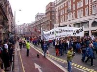 """Manifestazione per la legalizzazione della marijuana in Gran Bretagna organizzata dal settimanale """"Independent on Sunday"""". Il PR è stato invitato a pa"""