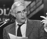 ritratto di Franco Marini, ex sindacalista, segretario nazionale del PPI (BN)