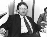 ritratto di Francesco Storace (AN), presidente della commissione di vigilanza sulla RAI-TV (BN)