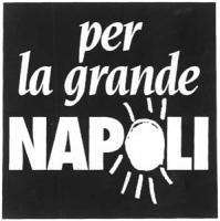 """Logo della lista """"Per la grande Napoli"""" con cui Pannella si presentò alle elezioni suppletive del collegio del Senato di posillipo."""