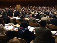 Sede onu. Votazione della risoluzione di moratoria della pena di Morte nella Commissione Diritti Umani. La risoluzione viene aprovata. Importante.