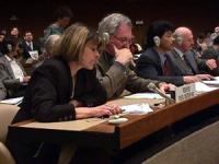Sede onu. Marina Sikora (PR) mentre pronuncia lo Statement orale sulla Macedonia davanti alla commissione dei diritti umani.