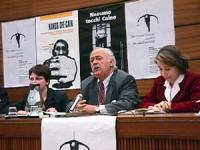 Sede onu. Conferenza di Nessuno Tocchi Caino in vista della votazione della risoluzione di moratoria della pena di Morte. Ritratto di George Bizos (av