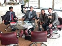 Sede onu. da sinistra ???, Tempa Tsering (segretario ai rapporti internazionali del governo tibetano in esilio), Mrs Koren (rapresentante del Dalai La