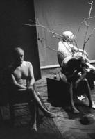conferenza stampa dei nudi al Teatro Flajano. Strik Lievers, Cusino, Stanzani