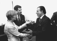 Emma Bonino con Carlos Menem, Presidente dell'Argentina