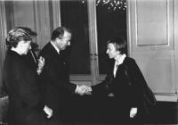 Emma Bonino con Alberto II e Paola di Liegi, sovrani del Belgio