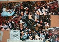Collage di foto disobbedienza civile in materia di droghe a piazza Navona. Bernardini bloccata da un poliziotto mentre lancia dell'hashish. Ottima