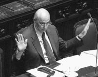 ritratto del Ministro degli Interni Giorgio Napolitano (PDS)