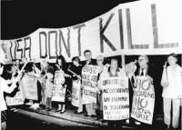 Manifestazione contro la pena di Morte davanti all'ambasciata USA.