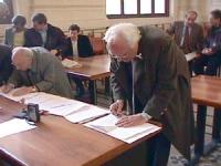 Corte di Cassazione. Deposito richiesta dei 5 Referendum (3 elettorali, 1 finanziamento pubblico, 1 resp civ mag). Pannella, Stanzani, Vigevano, Berna