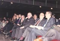 36° congresso PR II sess. Vista della platea: (da destra a sinistra) Mino Martinazzoli, Giorgio Napolitano, Giovanni Spadolini,  Giuliano Amato e altr