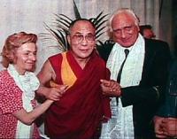 conferenza stampa del Dalai Lama alla sede del PR. Bonino, Dalai Lama, Pannella