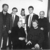 Incontro in carcere con Paula Cooper. Novelli Ivan, Pietrosanti, Cooper Paula, con don Germano Greganti ed altri.