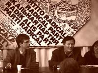 Visita del dissidente cinese Wei Jingsheng in Italia ospite del pr.  (Cina) Conferenza stampa alla sede del PR. Wei e Dupuis.