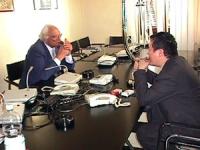 Visita del dissidente cinese Wei Jingsheng in Italia ospite del pr.  (Cina) Wei si incontra con Pannella dopo la conferenza stampa