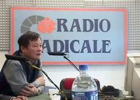 Visita del dissidente cinese Wei Jingsheng in Italia ospite del pr.  (Cina) Wei negli studi di Radio radicale durante un filo diretto con gli ascoltat