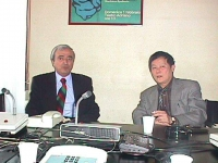 Visita del dissidente cinese Wei Jingsheng in Italia ospite del pr.  (Cina) Wei si incontra con Antonio Martino (FI) ex ministro degli Esteri del gove