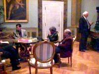 Visita del dissidente cinese Wei Jingsheng in Italia ospite del pr.  (Cina) Wei in Campidoglio per incontrarsi con il sindaco di Roma Francesco Rutell