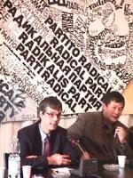 Visita del dissidente cinese Wei Jingsheng in Italia ospite del pr.  (Cina) Conferenza stampa di Wei in conclusione della sua visita. Wei esprimerà il