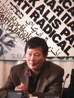 Visita del dissidente cinese Wei Jingsheng in Italia ospite del pr.  (Cina) Ritratto.