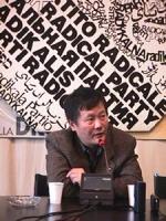 Visita del dissidente cinese Wei Jingsheng in Italia ospite del pr.  (Cina) ritratto