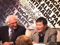 Visita del dissidente cinese Wei Jingsheng in Italia ospite del pr.  (Cina) Pannella insieme a Wei