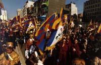 Marcia della 1° manifestazione europea per la libertà del Tibet.