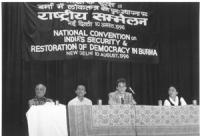 """Olivier Dupuis partecipa alla: """"Convenzione Nazionale sulla sicurezza dell'India e il ripristino della democrazia in Birmania"""" (Altre su carta, con ne"""