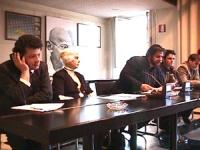 Sede PR. Conferenza stampa di Arthur Zhei ed altri cittadini albanesi di Albania e Kossovo di denuncia della politica di repressione del governo di Be