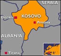 cartina del Kossovo