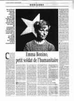 "Le Monde dedica una intera pagina ad Emma Bonino con bella foto. ""Emma Bonino, petit soldat de l'humanitarie"""