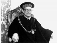 ritratto di Mauro Ferri, ex presidente della Corte Costituzionale (BN)